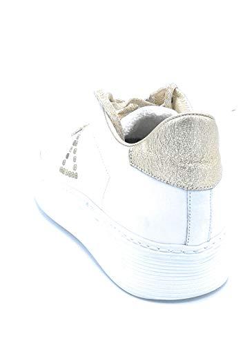 Dreamer Sneakers Bordo Fondo Pelle Bianca A582 Gomma Taglia Borchiette Lacci 40 Oro E Scarpa r5wqr0z6