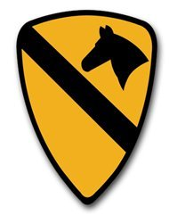 (Vinyl USA US Army 1st Cavalry Division Patch Decal Sticker 5.5
