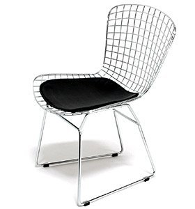 pd chair pad reach seat two bertoia stools design tone within and chairs side dining main with