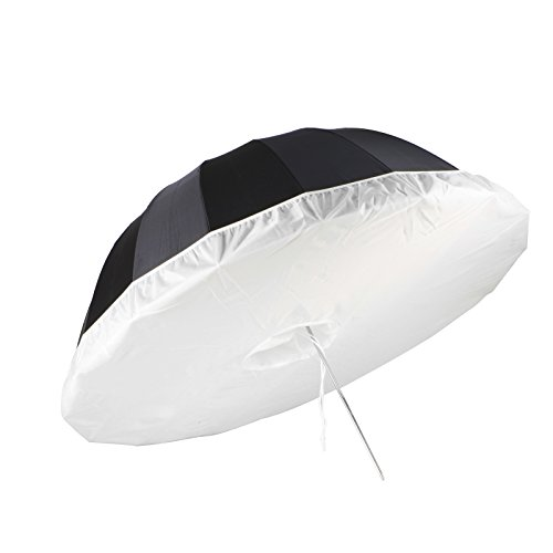 Selens 41 Inch Professional Photography Studio Umbrella Diffuser Soft Light Cloth for 16 Rods Black/Silver Parabolic Reflective Lighting Umbrella by Selens