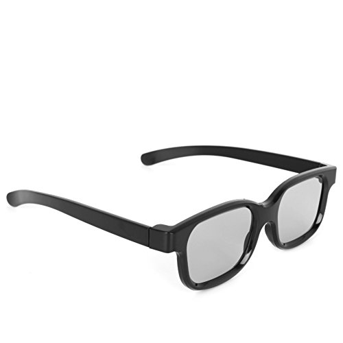 Niceskin ABS Polarized Passive 3D Glasses Black H3 for TV Real D 3D Cinemas