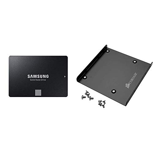 (Samsung 860 EVO 250GB 2.5 Inch SATA III Internal SSD (MZ-76E250B/AM) with Corsair SSD Mounting Bracket Kit 2.5