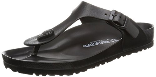 (Birkenstock Essentials Unisex Gizeh EVA Sandals Black 38 N EU (US Women's 7-7.5))