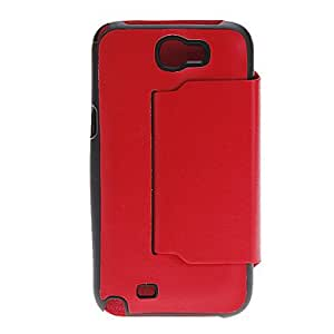 YXF Cool Design Artificial Leather and Plastic Stand Case Cover for Samsung Galaxy Note2 N7100 (Assorted Colors)
