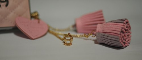 CJB Dust Plug / Earphone Jack Accessory Lovely Pink Heart Tassel for iPhone 4 4S S4 5 All Device with 3.5mm Jack