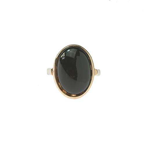 - Providence Vintage Jewelry Faux Onyx 18k Gold Plated Ring