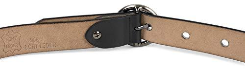 styleBREAKER cintura in pelle da donna con borchie forate e superficie lucida, vera pelle, accorciabile, 03010103