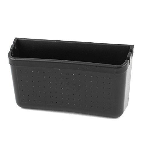 (Self-Adhesive Pillar Pocket Card Phone Storage Holder Black para sa Car)