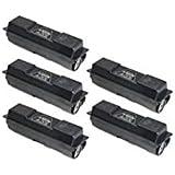 Tonerprice 5 Pack 1T02H50US0 Compatible Toner Cartridges. TK-142, 4000 Page-Yield Per Ctg, Black