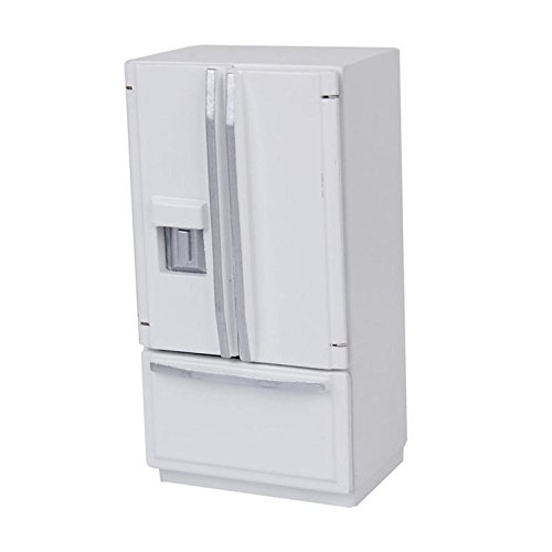 dreamflyingtech 1/12 Dollhouse Miniature Fridge Refrigerator White Doll House Furniture Accessories