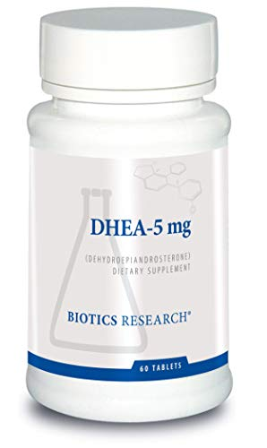 Biotics Research DHEA-5 mg – Hormonal Balance, Metabolism, Improved Mood and Outlook, Age Gracefully, Healthy Stress Response. 60 Tablets