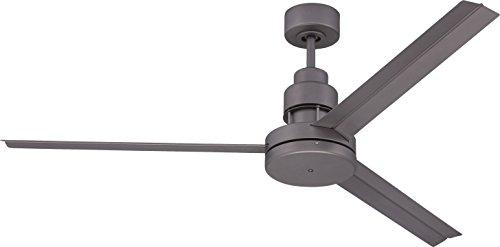 Craftmade Outdoor Ceiling Fan with Remote MND54ESP3 Mondo 54 Inch Metal Aluminum 3 Blade Industrial Fan for Patio, Espresso