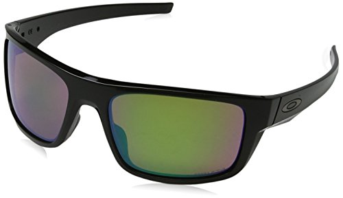 Oakley Men's Drop Point Polarized Iridium Rectangular Sunglasses, Polished Black, 60.0 - Shallow Drop