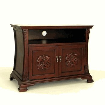 Wayborn Home Furnishing Medallion TV Cabinet, Brown