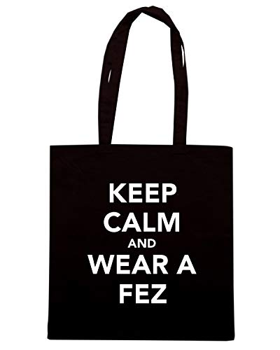 Borsa Speed Shirt Shopper AND FEZ TKC1774 Nera A KEEP WEAR CALM 5rZrqBx1yw