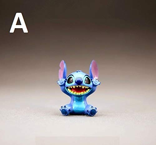 PAPRING Lilo Toy 2 inch Stitch PVC Action Figure Movie Small Figures Hot Model Mini Gift Christmas Halloween Birthday Gifts Cute Doll Animal New Decoration Collection Collectible for Kids Adults (A)]()