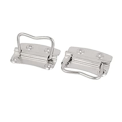 eDealMax hogar Caja de almacenamiento Caja de herramientas 80 mm Longitud de metal empuñadura tiradora 2pcs