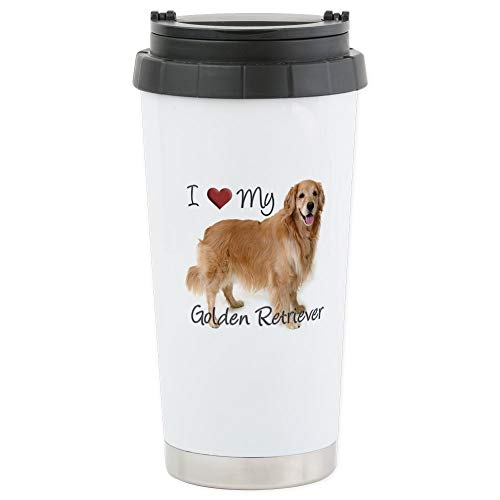 (CafePress Golden Retriever Stainless Steel Travel Mug Stainless Steel Travel Mug, Insulated 16 oz. Coffee)