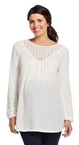Liz Lange Maternity Top - Liz Lange Maternity Blouse Lace Inset Peasant Top