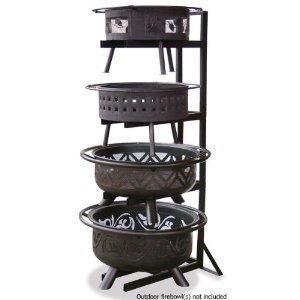 Uniflame Outdoor Firebowl (UniFlame Endless Summer OFP-DPY 74 Inch Outdoor Firebowl Display Stand, Bronze Finish)