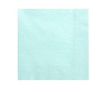 Party Deco Serviette Papier Bleu Turquoise x20: Amazon.fr ...