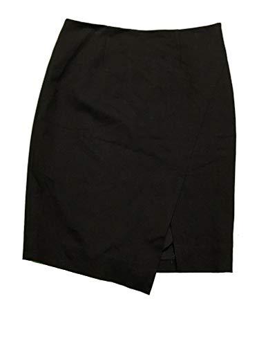 White House Black Market Women's Pencil Ponte Skirt Asymmetrical 4 Black from White House Black Market