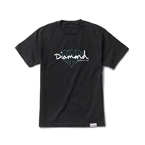 Diamond Supply Co Brilliant Script T-Shirt Black by Diamond Supply Co