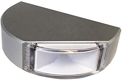 Lumitec サーフェスマウントナビゲーションライト - クラシックアルミニウム - ポートレッド