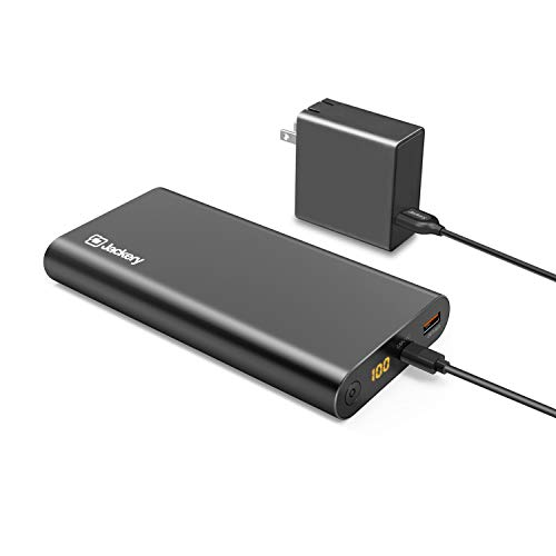 Jackery Supercharge 26800 PD, 26800mAh Portable Charger USB C 45W Power Bank & 45W Wall Charger Compatible with iPhone 8/ X, Nexus 5X 6P, USB C Laptops(e.g.MacBook) Nintendo Switch [Power Delivery]