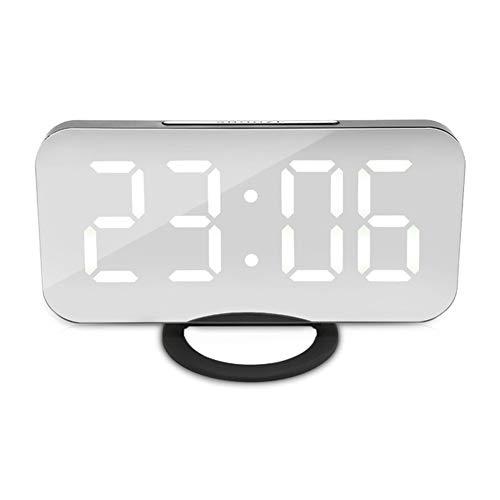 Kaever Reloj Despertador USB Reloj Digital con Pantalla LED Grande y de fácil Lectura Modo de