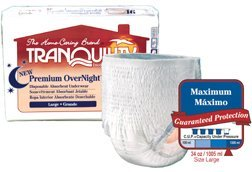 Tranquility Premium OverNight Pull-On Diapers, Medium, 54 Diapers