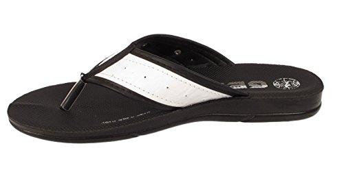 Mens Gezer Togo White Sports Summer Beach Pool Holiday Toe Post Flip Flop Sandals HhWBIVKPn