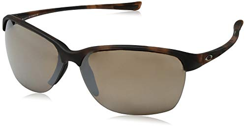 Oakley Women's Unstoppable Polarized Iridium Rectangular Sunglasses, Matte Brown Tortoise, 65 mm (Oakleys Womens Sunglasses)
