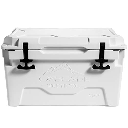 Cascade Mountain Tech Heavy- Duty Cooler Built-in Bottle Opener for Camping, BBQs, Tailgating & Outdoor Activities from Cascade Mountain Tech