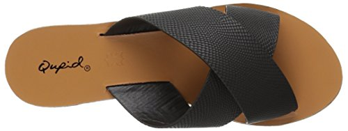 schwarzem Qupid Flip Sandale aus aus Polyurethan 15 Eidechsenleder Keilrutsche mit SfHTq