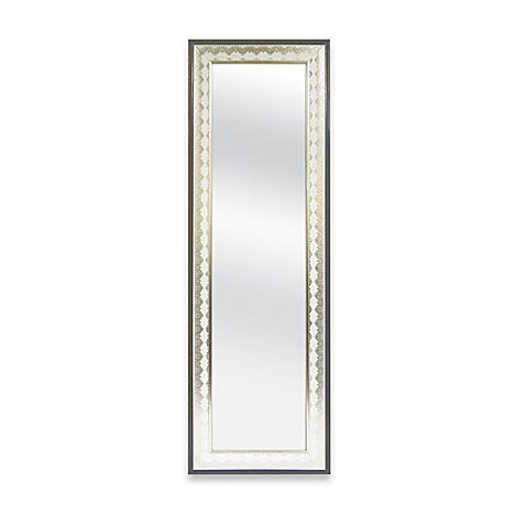 Door Solutions 48-Inch x 12-Inch Embossed Lace Over-the-Door Mirror in Champagne (Mirror Length Gold Full)