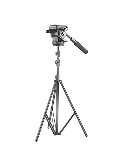 Light Stand Tripod + Video Still Head + Phone Holder for Photo Video Studio Photography Shooting Purpose
