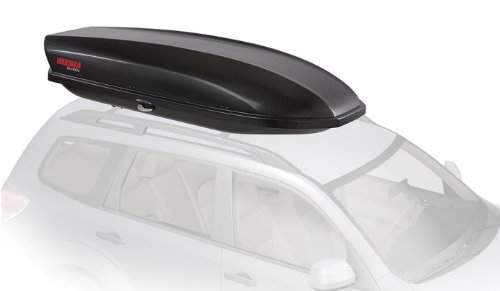 Yakima - SkyBox Aerodynamic Rooftop Cargo Space for Cars, Wagons and SUVs, 16 (adds 16 Cubic ft. of Storage), Carbonite