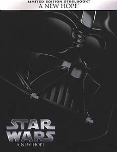 Star Wars IV A New Hope (Blu-ray Disc, 2015, Steelbook) NEW