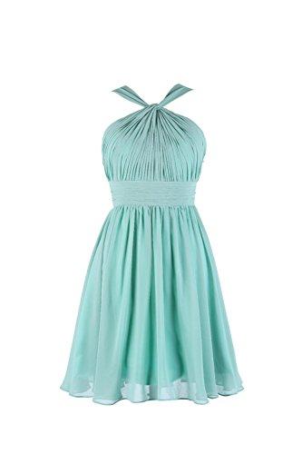 YiYaDawn - Vestido - trapecio - para mujer verde menta