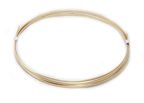 16 Gauge, 14/20 Yellow Gold Filled, Half Round, Dead Soft - 5FT from Craft Wire - Filled Gold Gauge Round Wire