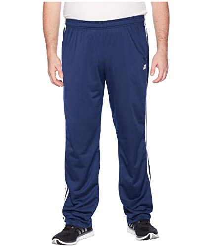 adidas Men's Big & Tall Essentials 3-Stripes Regular Fit Tricot Pants Collegiate Navy/White 1 XL 34 Tall 34