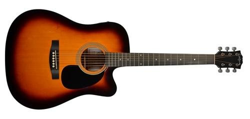 Carlo Robelli CRF600CES Dreadnought Cutaway Acoustic/Electric Guitar