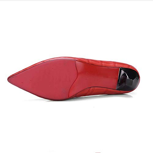 Women Tacchi Lz Mouth Shallow Shoes 45 Single alti rosso rosso XqPxPwZtf