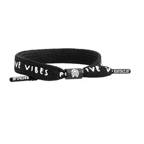 Rastaclat Positive Vibes Shoelace Bracelet Black
