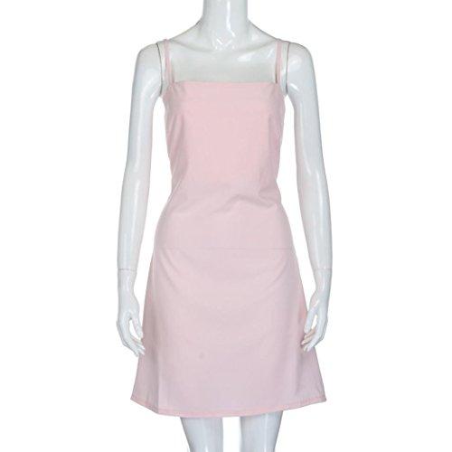 vestidos de fiesta cortos Switchali moda vestidos verano mujer diariamente Sin mangas Mini vestido de novia vintage casual de mujeres de senora atractivo Vestidos para mujer baratos Rosado