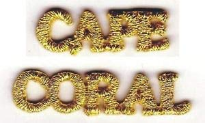 VirVenture Metallic Gold Cape Coral Florida Tourism Embroidery Applique Patch Great for Hats, Backpacks, and Jackets.