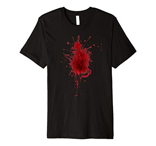 Happy Halloween Blood Splatter Tshirt Costume - Gag DIY Gift]()