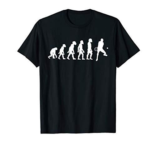 Funny Human Tennis Evolution Racket Ball Player Smash Serve T-Shirt