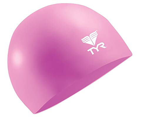 TYR Wrinkle Free Junior Silicone Cap, Pink ()